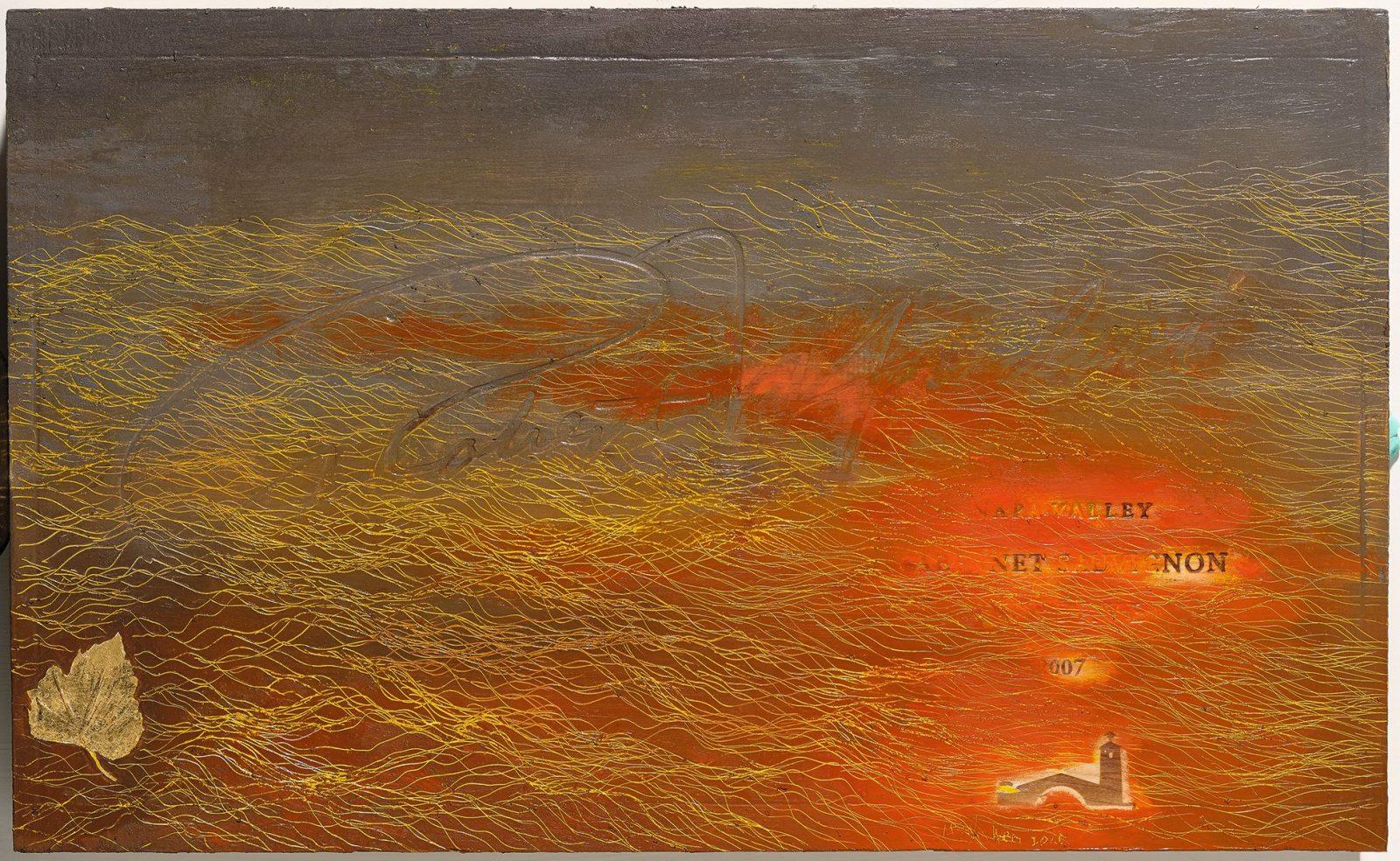 引徑-11, Side Track-11, 32.6 x 53.3 cm, mixed media, 2015