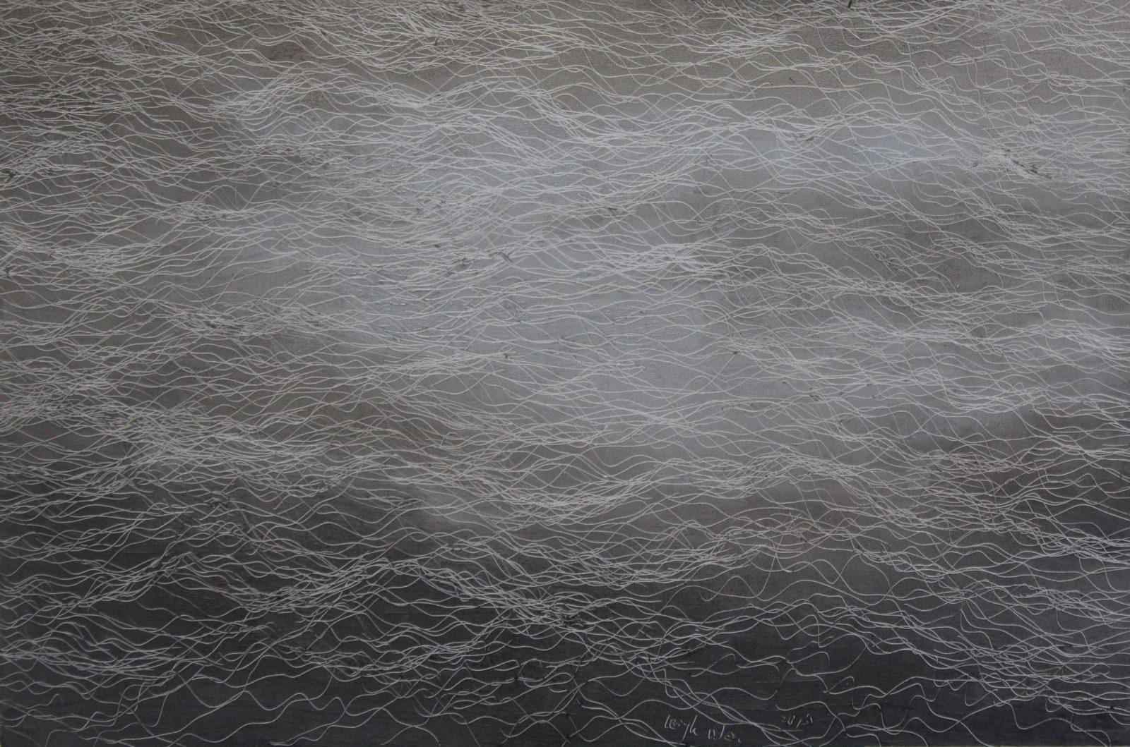 引徑-25, Side Track-25, 33 x 50, mixed media, 2015