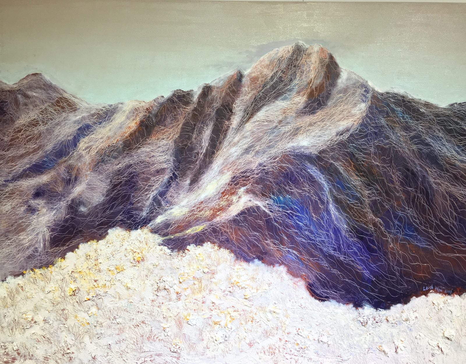 玉山 #12, Yu-Shang Mt. #12, 91 x 116.5 cm, oil on canvas, 2016