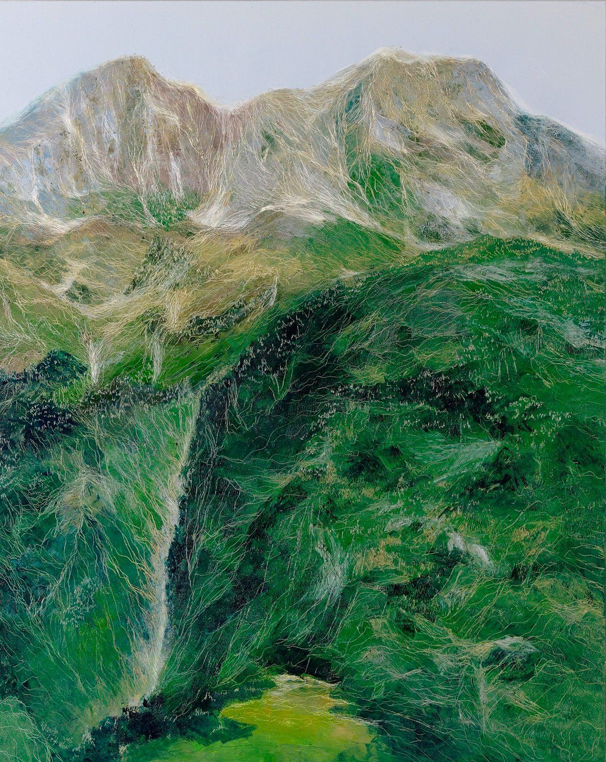 綠意, Green Edge, 162 x 130 cm, oil on canvas, 2015