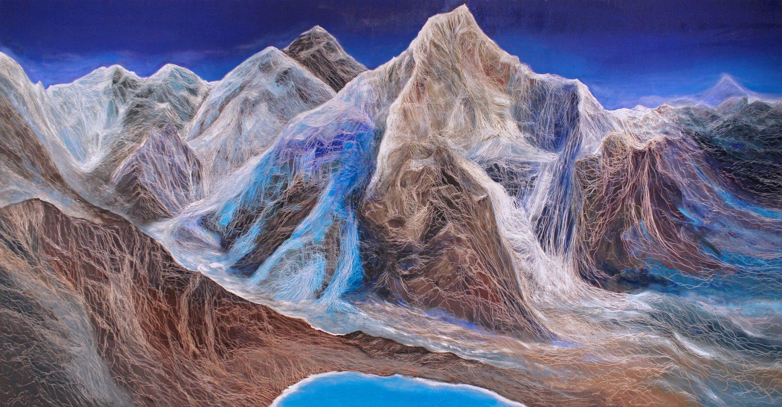 世界之頂, 198 x 388 cm, oil on canvas, 2014