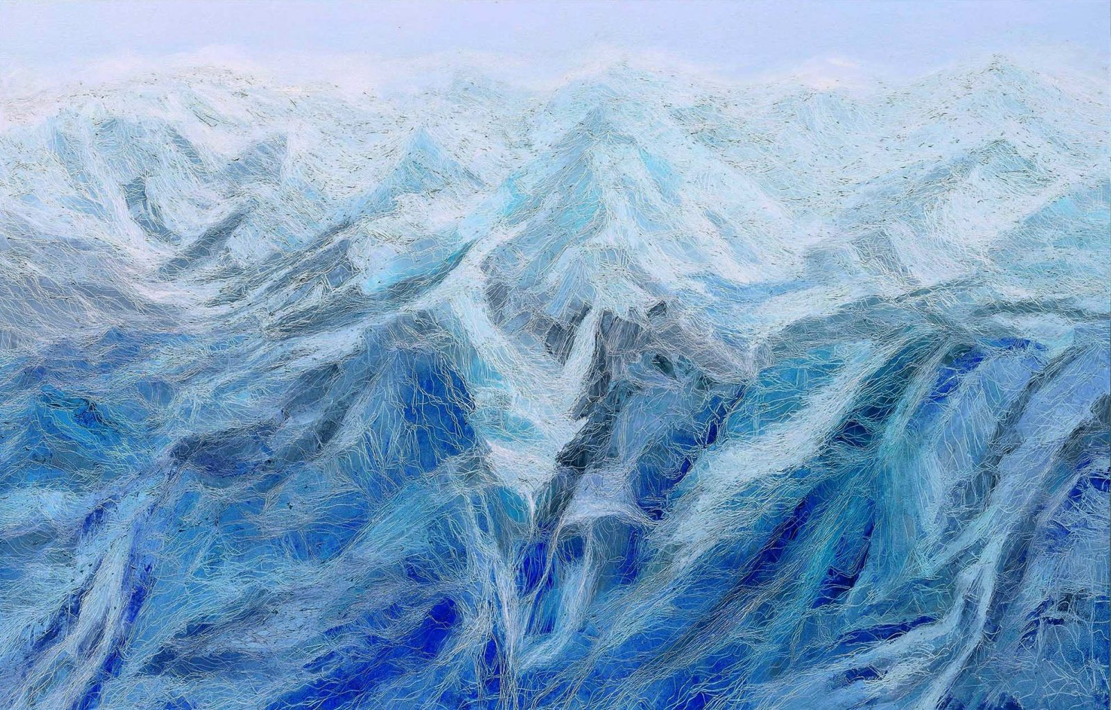 峰, Cold Peaks 1, 145.5 x 227 cm, oil on canvas, 2015