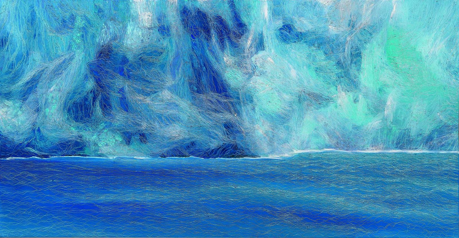 冰川, Glacier 1, 109 x 211 cm, oil on canvas, 2015