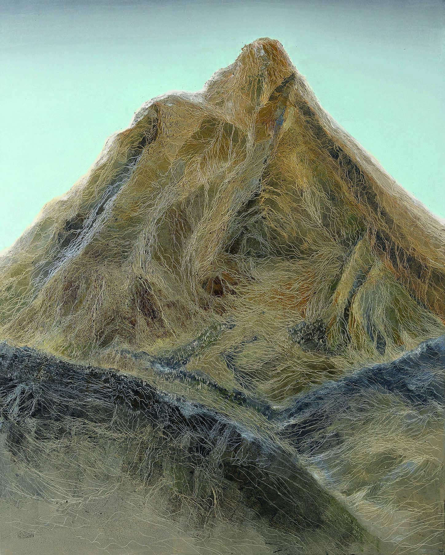 擎天, Cold Peaks 3, 162 x 130 cm, oil on canvas, 2015
