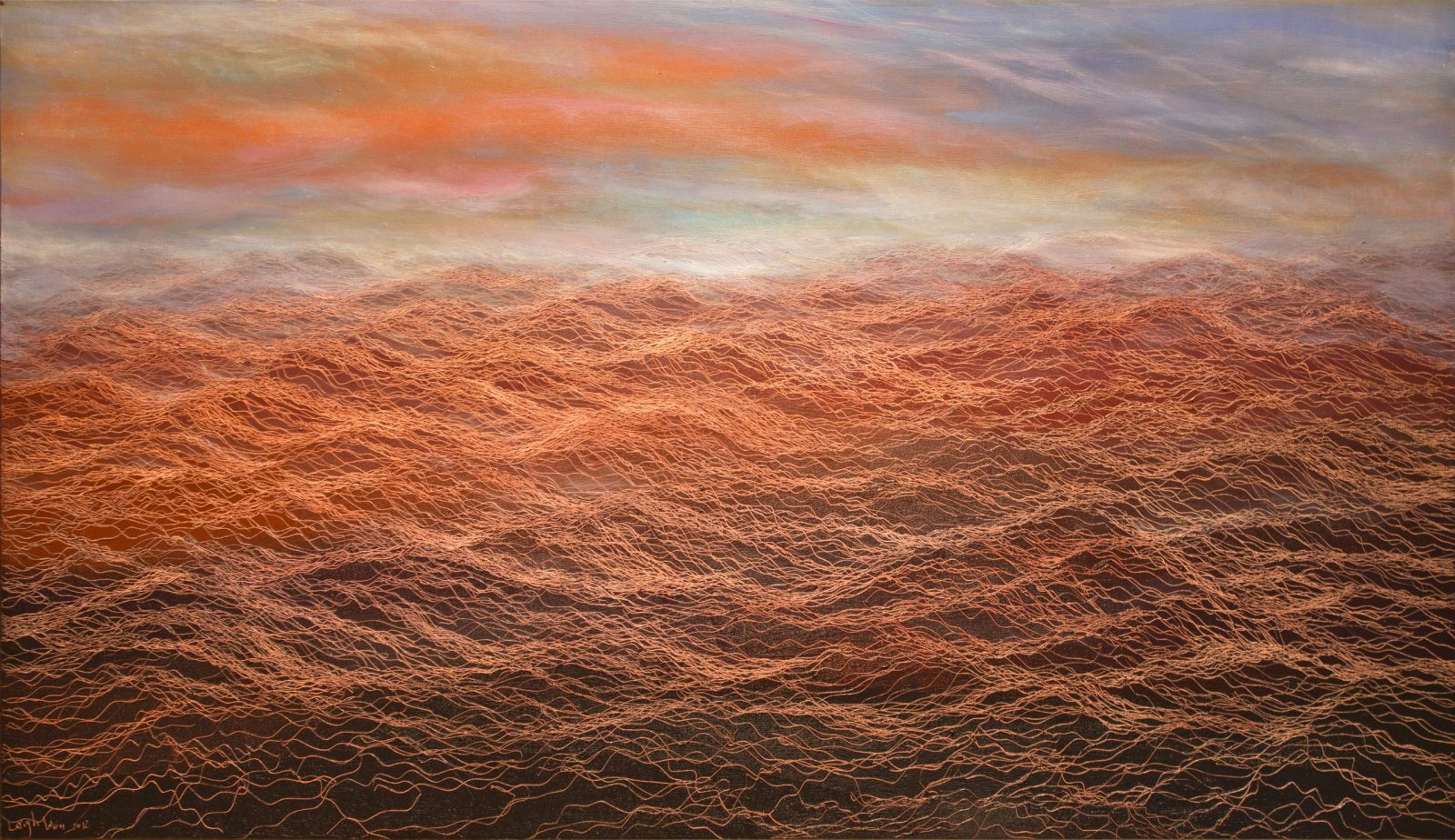 Dawn-5, 51 x 88, oil on canvas, 2012