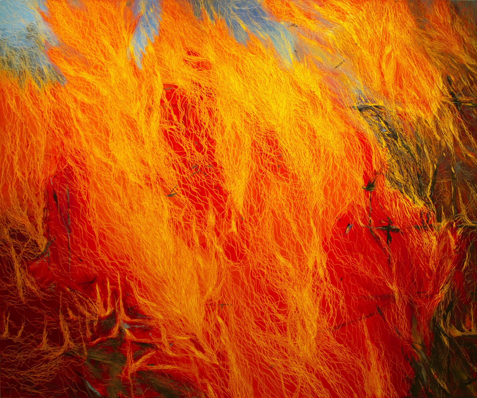 Fire XI, 60 x 72, oil on canvas, 2012