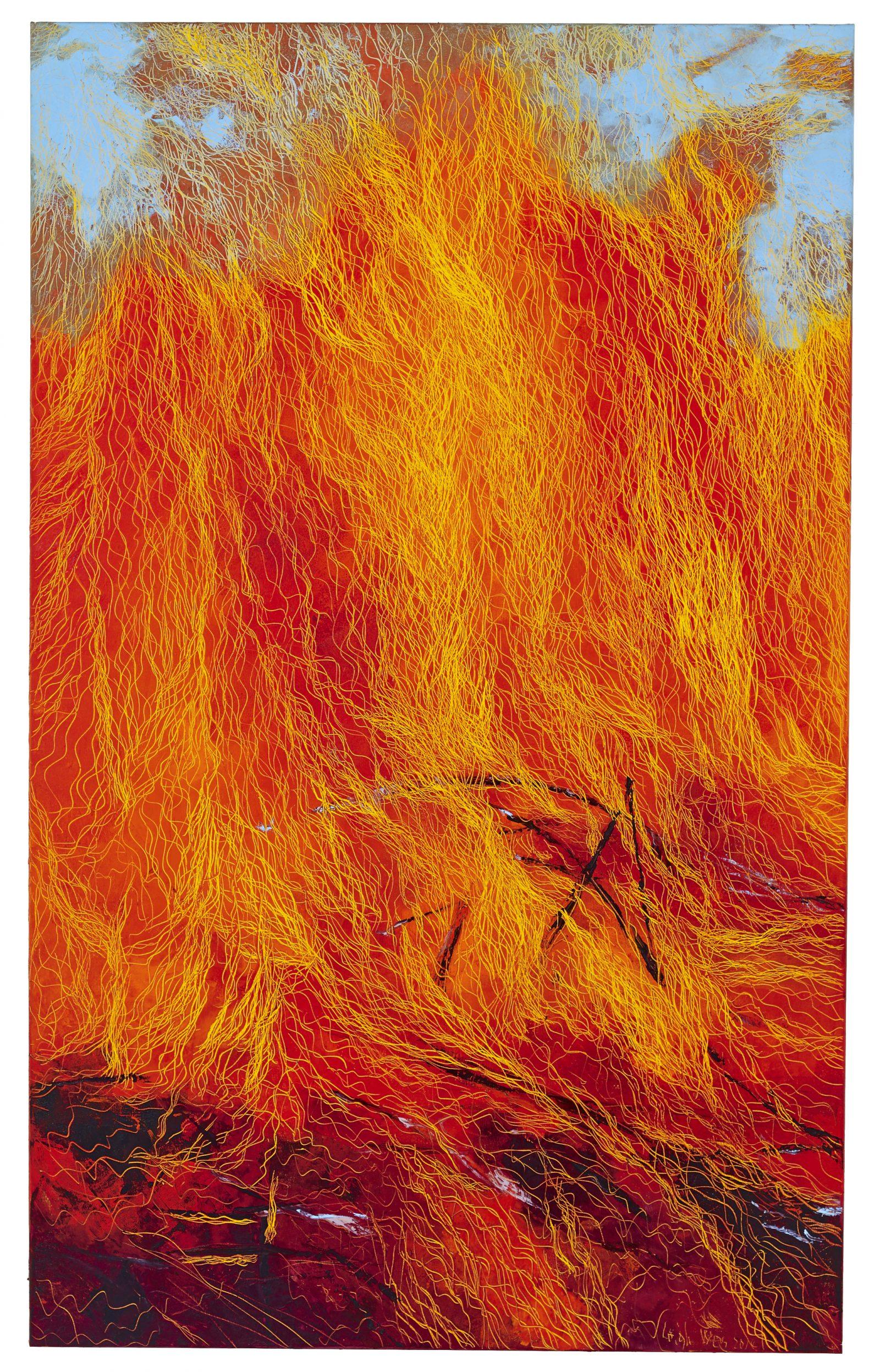 燦, Splendid, 30 x 80 cm, oil on canvas, 2014