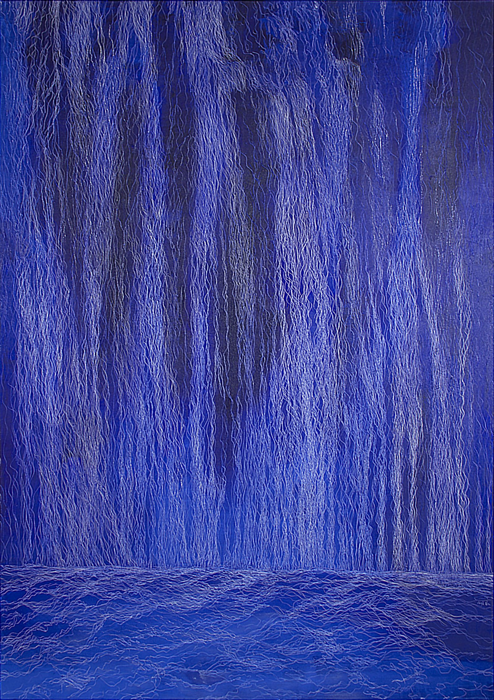 瀑布 II, waterfall II, 227 x 162 cm, oil on linen, 2017