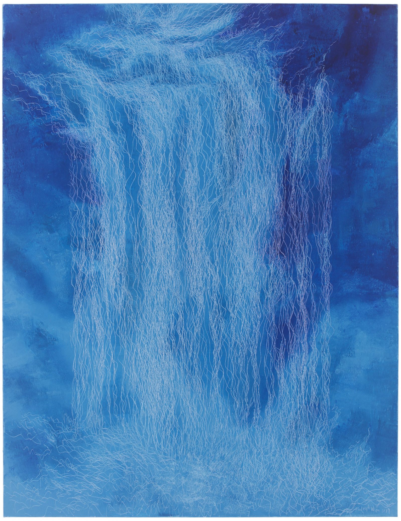 瀑布VI, waterfall VI, 145 x 112 cm, oil on linen, 2017
